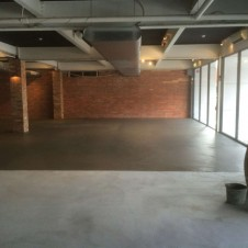 Polished concrete slab in Richmond July 2015