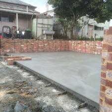 Smooth troweled garage slab in Brunswick July 2015