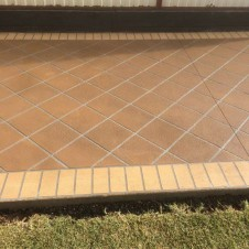 Stencil Finish on Concrete Footpath in Melbourne - Genform Concrete
