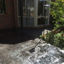 House driveway concreting with decorative pattern/finish - Genform Concrete Melbourne